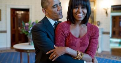 شاهد.. صورة أوباما مع زوجته ميشيل