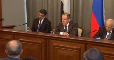 المؤتمر الصحفي للمنتدى العربي الروسي
