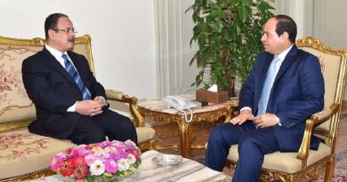 الرئيس عبد الفتاح السيسي ومجدي عبد الغفار وزير الداخلية