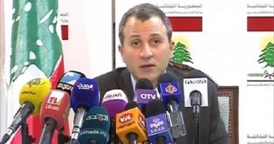 باسيل : مواقف لبنان لا تعارض الإجماع العربي