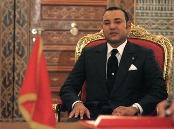 العاهل المغربي محمد السادس بالقصر الملكي في مراقش