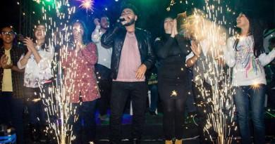 """تامر حسني و نجوم"""" ذا فويس كيدز"""" باحتفالية الاهلى"""