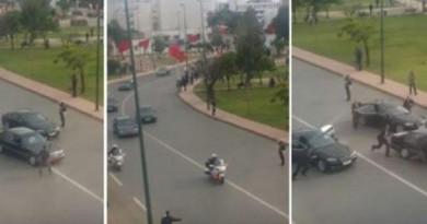 شاب يعترض سيارة ملك المغرب بالرباط