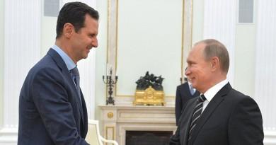 بوتين يهنئ الأسد باستعادة مدينة تدمر من الإرهابيين