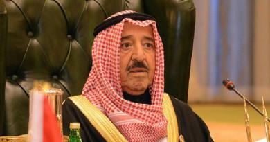 امير الكويت يعزي رئيس الإمارات فى ضحايا حادث تحطم طائرة فلاي دبي