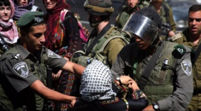 اعتقال فتاة فلسطينية