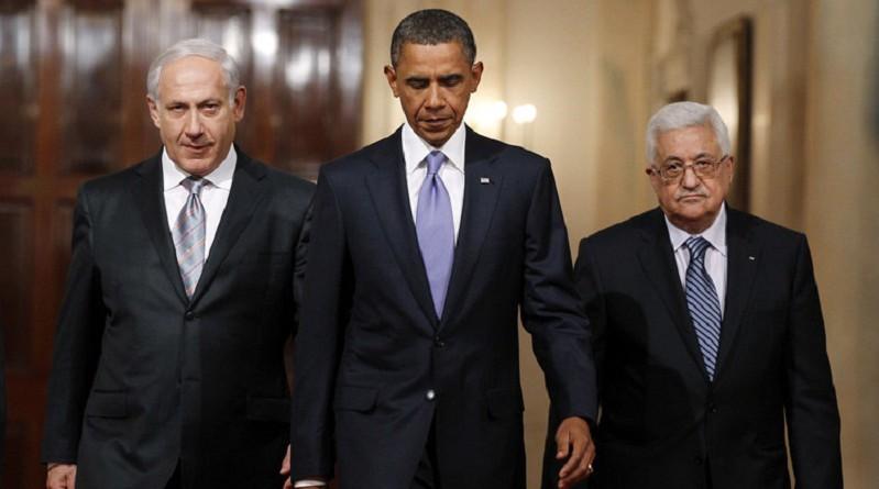 أوباما ونتنياهو وعباس