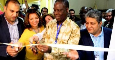 وزيرثقافة ساحل العاج ورئيس ومديرة مهرجان الاقصر للسينما الافريقية