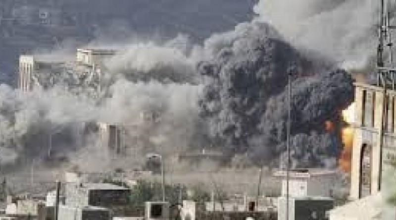 التحالف العربي يقصف مواقع للحوثي في عدة محاور في تعز