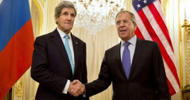 وزيري الخارجية الروسي سيرجي لافروف والأمريكي جون كيري
