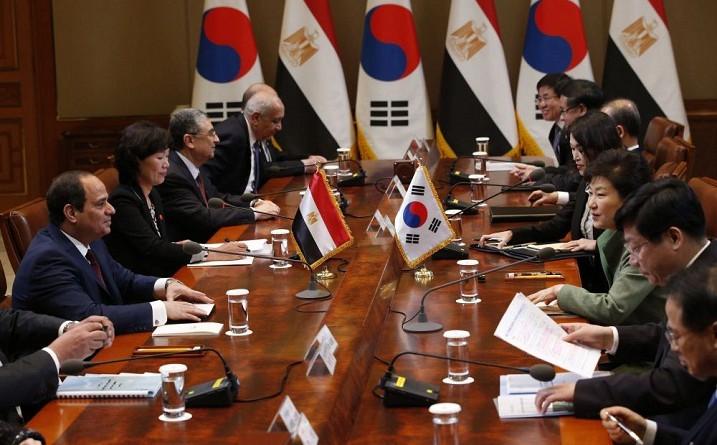كوريا ومصر تتفقان على السعي لمشاركة الشركات الكورية في مشاريع البنية التحتية في مصر
