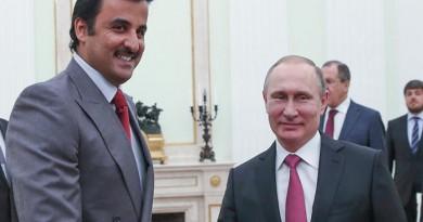 فلاديمير بوتين وأمير قطر