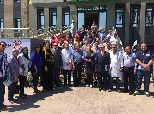 عمومية نساء مصر تزور مستشفى الكبد المصري بالدقهلية