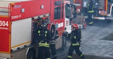 حريق يلتهم أحد مباني وزارة الدفاع الروسية (فيديو)