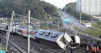 انحراف قطار عن مساره يتسبب فى مقتل شخص واصابة 8