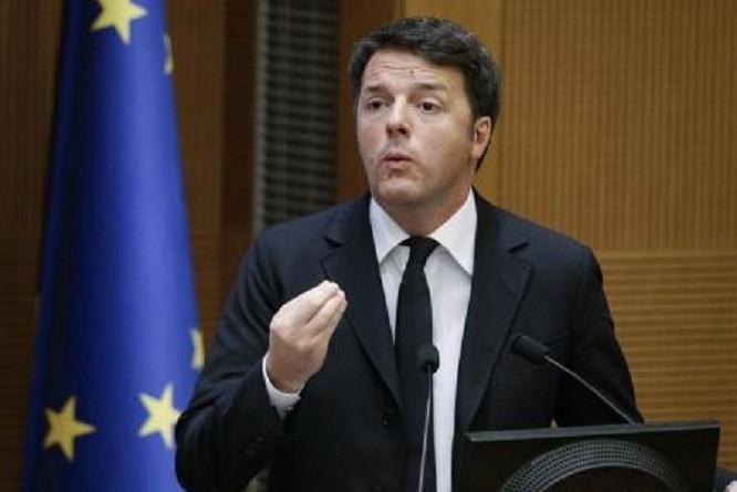 ئيس الوزراء الايطالي ماتيو رينتسي في روما