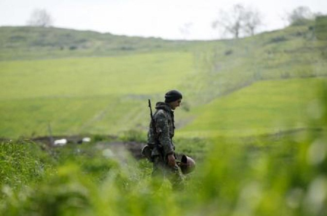 جندي من العرقية الارمينية في ناجورنو قرة باغ