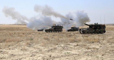 الجيش التركي يقصف مواقع لداعش بسوريا