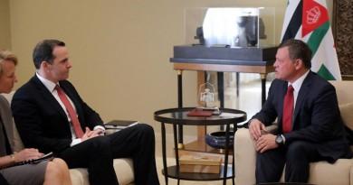 العاهل الأردني يلتقي المبعوث الأميركي للتحالف ضد داعش