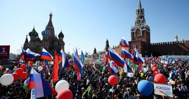 عيد العمال : روسيا تحتفل بالربيع والعمال