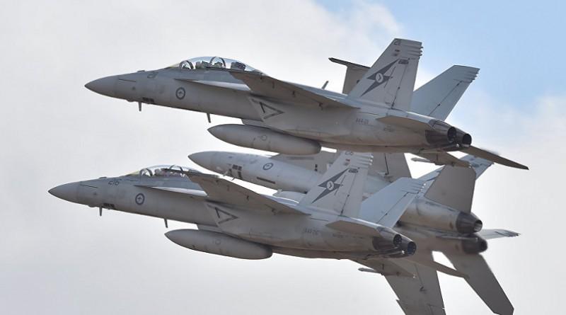 اصطدام مقاتلتا F-18 فوق سواحل الولايات المتحدة