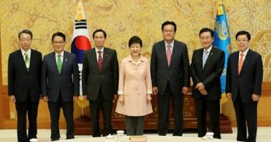 رئيسة كوريا الجنوبية تجري مباحثات مع القادة الجدد للكتل النيابية الثلاث في البرلمان
