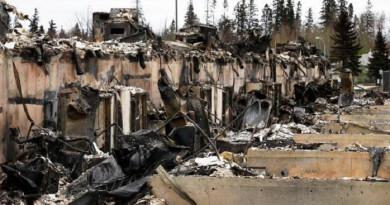 Canadian oil town offers tale of two cities after wildfire sweeps through