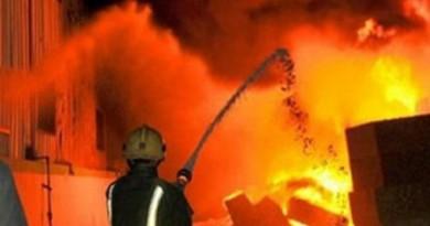 ليالى حرق القاهرة : نشوب حريق هائل في مصنع كيماويات بالنزهة