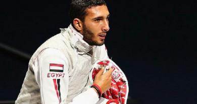 لاعب منتخب مصر لسلاح الشيش علاء الدين أبو القاسم
