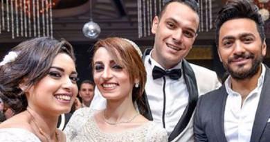تامر حسني يفاجئ ابنة أول شهيد بكرداسة بحضور حفل زفافها وإحيائه