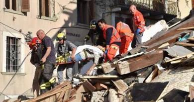 بالصور: إيطاليا تعلن حصيلة أولية لقتلى الزلزال