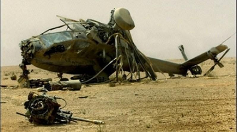 سقوط مروحية روسية في إدلب