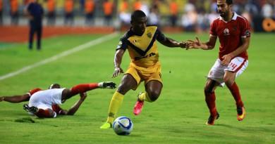 لقطة من مباراة الأهلي وأسيك في القاهرة