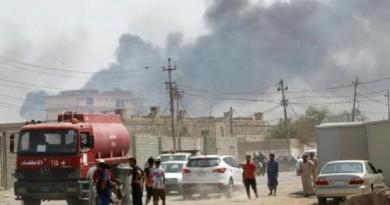 سقوط قتلى جراء حريق في مستودع أسلحة ببغداد