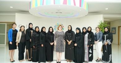 خلال استقبال سموها سفيرة الولايات المتحدة لدى الإمارات