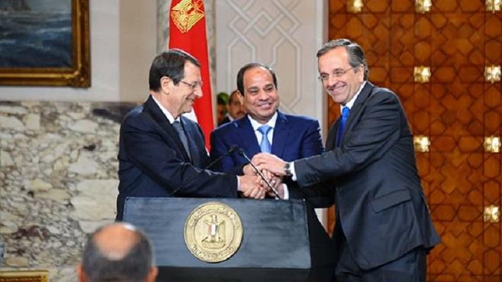 السيسي: اتفقنا مع قبرص واليونان على العمل لحل قضية الهجرة غير الشرعية