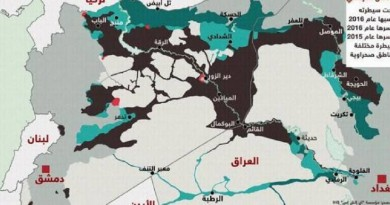 """خريطة تكشف كيف تتآكل سيطرة """"داعش"""""""