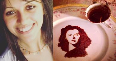 بالصور ... فنجان قهوة ينتهي بلوحة فنية
