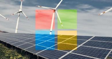 مايكروسوفت تتعهد بالاعتماد على الطاقة المتجددة بنسبة 50% بحلول العام 2018