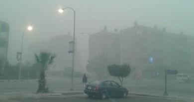 عواصف ترابية ورعدية وغيوم ورياح تضرب محافظة بني سويف 