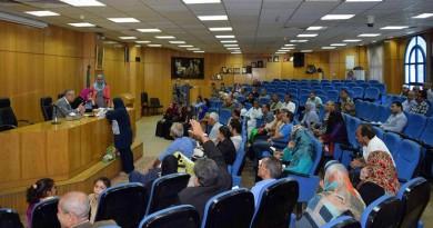 محافظ المنيا يشدد بازالة التعديات علي املاك الدوله خلال لقاء جماهيري 