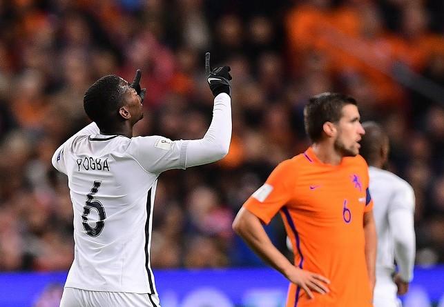 بوجبا يقود فرنسا لفوز صعب على حساب هولندا في تصفيات المونديال