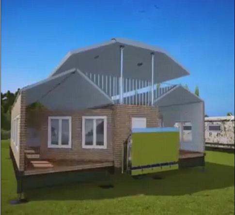 ابتكار منزل قابل للطي يتحول إلى شاحنة