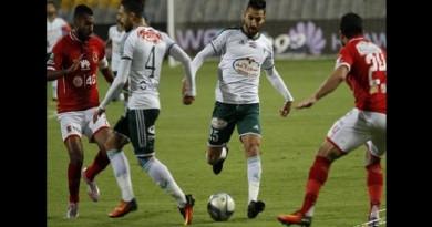 السعيد يقود الاهلى بثلاثية للفوز على المصرى ببرج العرب في مباراة مثيرة