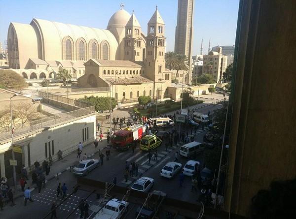 انفجار في محيط الكاتدرائية بالعباسية وسقوط مصابين