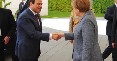 ميركل تزور مصر 2 مارس لعقد مباحثات مع السيسى وتطير الى تونس