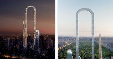 """بالصور: الكشف عن """"أعلى مبنى في العالم"""" على شكل حرف U في نيويورك"""