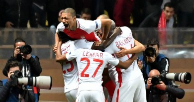 ليلة الأبطال...موناكو يعبر مانشستر سيتي ويتأهل لربع نهائي