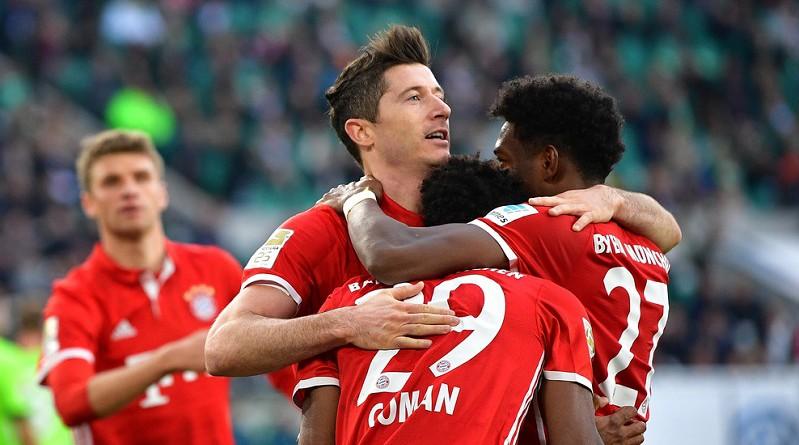 بايرن ميونيخ بطلًا للدوري الألماني للمرة الخامسة على التوالي
