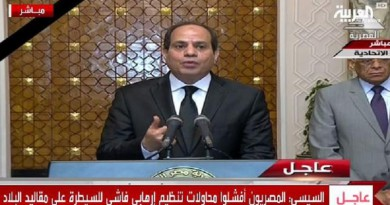 السيسي يعلن تشكيل المجلس الأعلى لمكافحة التطرف